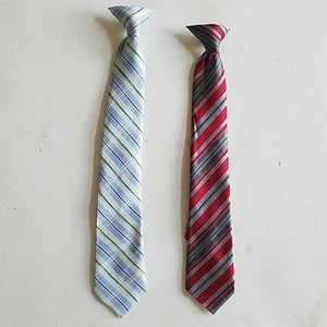 Other - 2 Clip-On Ties for Boys 10-12